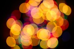 Lights. Colorful unfocused set of lights Stock Photography