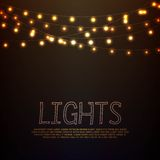 Lights. Abstract background with glowing lights Royalty Free Stock Photos