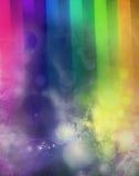 Lights on abstract rainbow texture Stock Image