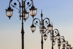 Lights,architectural elements Stock Photos