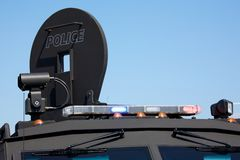 Lights on an armoured police vehicle Royalty Free Stock Photos