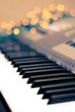 Lights around the piano Royalty Free Stock Photos
