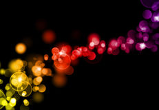Lights background. Celebration lights background in yellow red and purple color Stock Photo