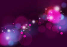Lights Background. Blurred lights background bookeh with purple magenta colors Stock Image