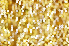 Lights background. Golden decorated blur lights background Royalty Free Stock Photos