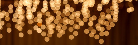 Lights banner Royalty Free Stock Photo