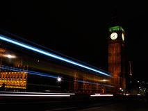 Lights of Big Ben Royalty Free Stock Photo