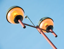 Lights with bird repellers Royalty Free Stock Images