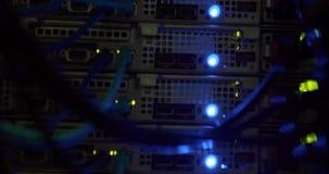 Lights blinking on server stock video