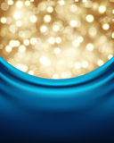 Lights and blue background Royalty Free Stock Image