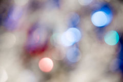 Lights on blue background. holiday bokeh. Abstract. Christmas . Festive with defocused and stars Royalty Free Stock Photography