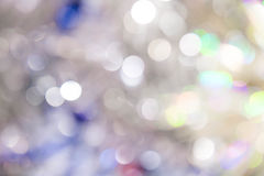 Lights on blue background. holiday bokeh. Abstract. Christmas . Festive with defocused and stars Stock Photos