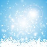 Lights blue snowflakes Stock Photography