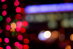 Lights in blur Stock Images