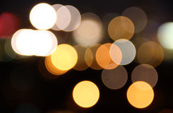 Lights in blur Stock Photography