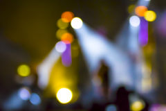 Lights blur. A stage during the show became almost abstract from the shot of blurred lights Royalty Free Stock Photos
