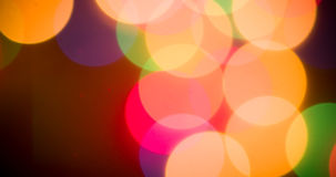 Lights blurred bokeh background Stock Photography