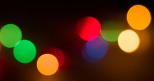 Lights blurred bokeh background Stock Photo