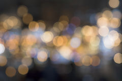 Lights blurred bokeh background from chrystal chandelier Royalty Free Stock Photos