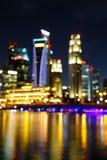 Lights blurred bokeh background. Stock Images