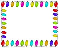 Lights border. Colorful lights border and frame illustration Royalty Free Stock Photo