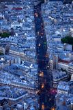 Lights of boulevard Saint Michel Stock Photo