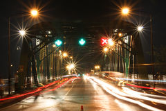 The Lights and Bridge. Royalty Free Stock Photography