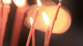 Lights Candles stock footage