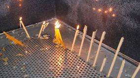 Lights candles stock video footage