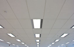 Lights from ceiling of building Royalty Free Stock Image
