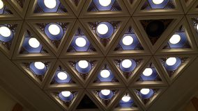 Lights on the ceiling. Theatre royalty free stock image