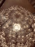 Lights. Chandelier flower ceiling rooms Royalty Free Stock Images