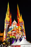 Lights of Christmas @ St Mary's Cathedral, Sydney, Australia Stock Photography