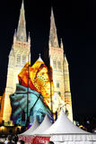 Lights of Christmas @ St Mary's Cathedral, Sydney, Australia Royalty Free Stock Photos