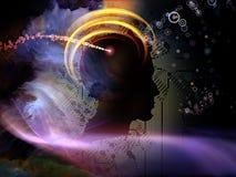 Lights of Circuit Intelligence Stock Image