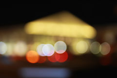 Lights of the City. Abstract out of focus lights during the night in a city Stock Photos