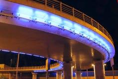 Lights of city bridge at night Stock Image