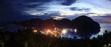 lights of the city in the mountains Royalty Free Stock Photos