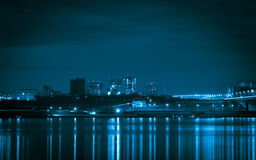 Lights of the city at night Stock Photography