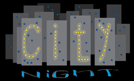 Lights the city at night Royalty Free Stock Photography