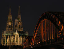 Lights of Cologne royalty free stock image