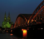Lights of Cologne royalty free stock photo