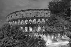 Lights of Colosseum at Night Royalty Free Stock Images