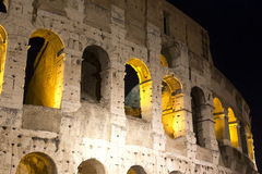 Lights of Colosseum at Night. Rome, Italy. Blow of interior lights of the Colosseum at Night, Rome, Italy Royalty Free Stock Images