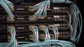 Lights and connections on network server. Lights and connections on network server stock footage