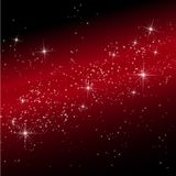 Lights in cosmos background bokeh effect. Royalty Free Stock Image