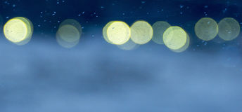 Lights in the dark form bokeh effect Stock Photography