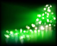 Festive lights on green background. Vector illustration. Lights on dark green background. Vector illustration Stock Images