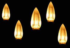 Lights in the Darkness. Candle lights floating on a dark background royalty free stock photography