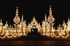 Lights decorating at the gate Royalty Free Stock Images